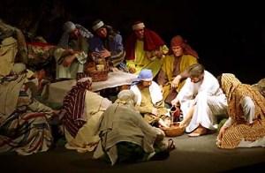 washing disciples feet